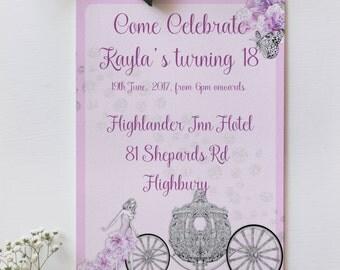 Fairy tail Invitations, Digital Invitations, adult birthday invitation