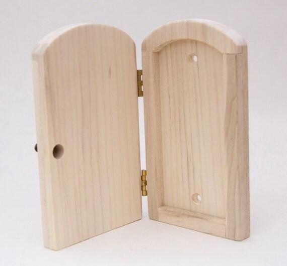 Fairy door decrotive outlet cover door unfinished unf01 for Unfinished fairy door