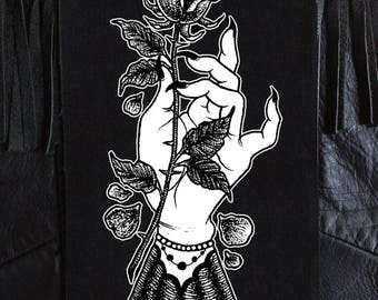 Mourning Hand Back Patch