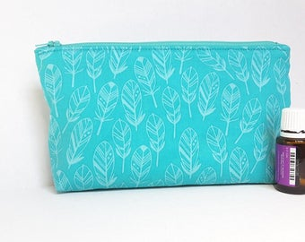 Turquoise Oil Bag - Oil Bag - Nail Polish Bag - Essential Oil Bag - Travel Bag - Personalized Bag - Turquoise Pouch - Handmade Bag