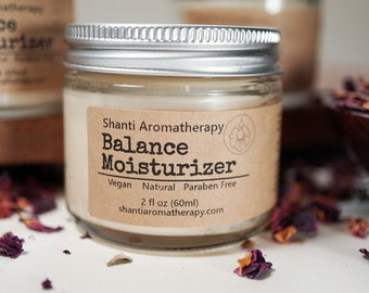 Balance Moisturizer - All Natural Moisturizer for Dry and Mature Skin - 2oz Size