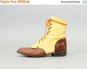 MAY SALE Leather Lace-up Boots (US 8.5)