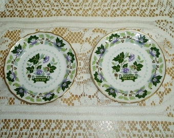 Booths China Jade Lotus Bread and Butter Plates