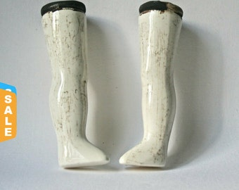Sale -  Long Porcelain Bisque Doll Legs for Doll Making and Doll Repair