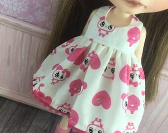 Blythe Dress - Pink Pandas