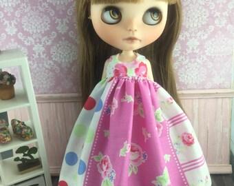 Blythe Angel Dress - Pretty Pink Floral