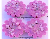 Pink Sugared Lavender Soy Wax Melts , Fresh , Calming , Relaxing ,  Soy Wax Melts , Hand Crafted By: tranquilityy