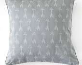 Arrow Cushion , cover only ; gray and white, arrow pillow,