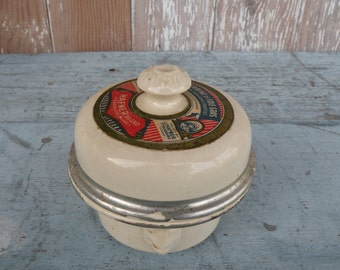 Darling , Vintage French Terrine of Foie Gras pot . Made in France with Lion heads