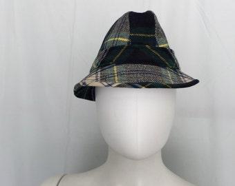 Vintage Plaid Fedora Hat - FailsWorth