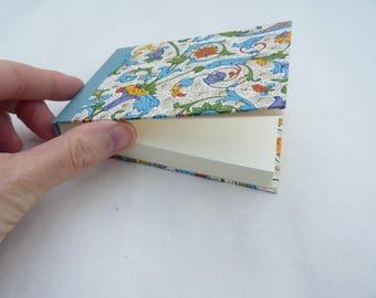 Small notebook, little journal, florentine, rossi paper, italian, bookcloth
