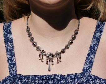 Silver Tribal Rajasthan Belly Dancer Necklace