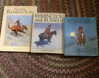 Frederic Remington Books Lot of 3 Rare Hardcover Wild West