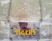 Clear cross body purse, LSU purse, Tigers purse, LSU cross body purse, Stadium Approved Purse, Clear Football Purse