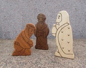 RESERVED for Vanessa - NATIVITY SET Add-ons - 3 animals and 3 wise men - Waldorf natural toys