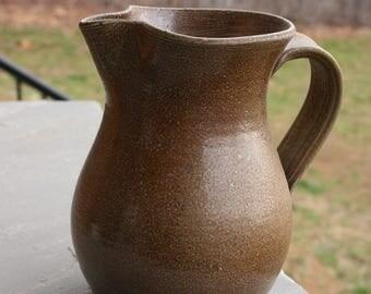 Salt Glazed  Pottery Pitcher Seagrove NC Pottery