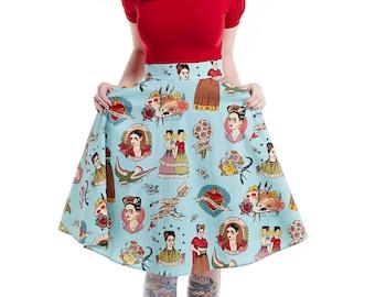 Blue Frida Swing skirt