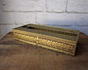 Hollywood Regency Tissue Box Cover - Filigree Kleenex Cozy
