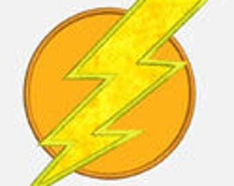 Lightning Bolt...Embroidery Applique Design...Three sizes for multiple hoops...Item1084...INSTANT DOWNLOAD