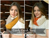 Crochet Scarf Pattern -Candy Crush Scarf - crochet, crocheted scarf, infinity scarf, cowl, pattern,scarf pattern, cowl pattern