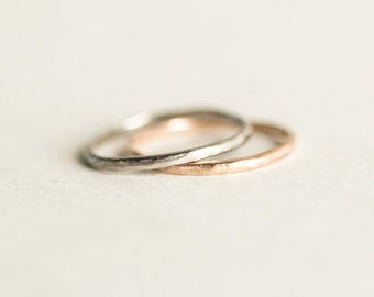 Matching Simple Wedding Band Set