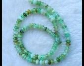 Natural Chrysoprase Gemstone Loose Bead,Chrysoprase Coin Beads,6x4mm,23.1g