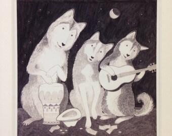 Busking Huskies