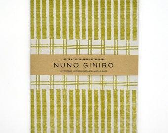 letterpress notebook / blank notebook / handcrafted / A5 notebook / travel diary / journal / notetaker