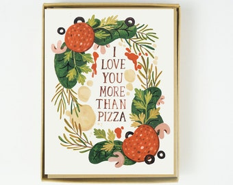 I Love You More than Pizza 8pcs Boxed Set