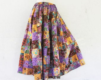 Hand made Thai batik sarong elastic waist patchwork skirt,boho skirt,wrap skrit,sarong,batik,simple wear,comfortable wear