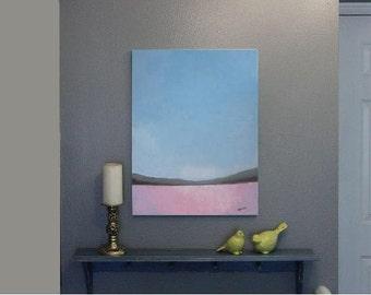 18x24 canvas painting Acrylic painting original art canvas art original landscape painting abstract landscape lavender field painting