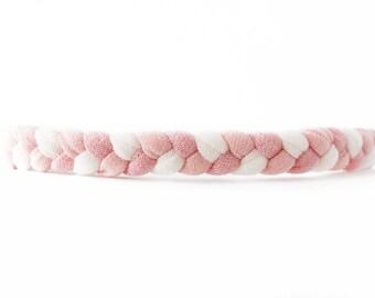 Blush Baby Headband - Valentine Outfit - Braided Headband - Coming Home Headband - Baby Girl Headwrap - Braided Headwrap - Thin Braid Band