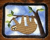 The Sloth, handmade patch, Phish, music, festival, hippie, boho