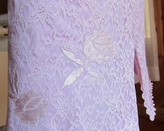 Vintage Lingerie   Purple Slip   Vintage Lingerie 1950s 1960s   Lavender Lace Half Slip   Vintage Petticoat   Pin Up Lingerie   Pin Up Girl