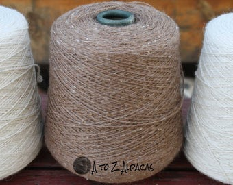 100% Alpaca Yarn - Sport Weight - Natural Medium Fawn - 2196 yards - On a convenient cone