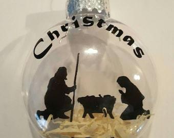 "Floating nativity ornament 3"""