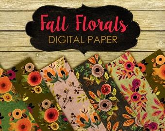 Fall digital paper, fall clipart, thanksgiving digital paper, scrapbook paper