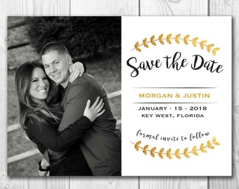 5x7 Save The Dates Personalized Photo*Wedding Announcement*Custom*Digital File*Printable