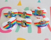 1980s ET Rainbow Hair Clip...outer space. rare. collectible. universal studios. movies. classic. gift. one of a kind. vintage ET. phone home