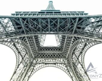 Eiffel Tower Paris two tone- 8x10 Fine Art, Print Paris Decor, Eiffel Tower Photograph, Paris Print, Travel Photo Eiffel Tower Decor Print