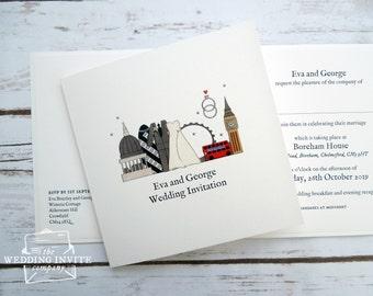 London Wedding/Evening Invitations
