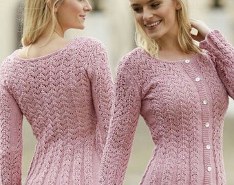 "Hand-Knitted Lace Cardigan..""Love is in the Air"" - MADE TO ORDER"
