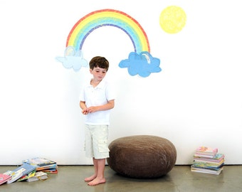 Rainbow Promise  Reusable Fabric Wall Decals by Pop & Lolli