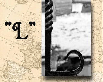 Letter L Alphabet Photography Black and White or Sepia 4 x 6 Photo Letter Unframed