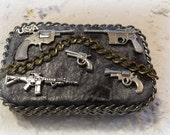 RESERVED FOR MARYSTELLA, Custom Order, Altered Tin Box, Gun Collector