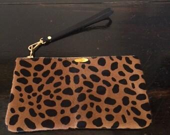 """Leopard Pouch (soft hair) 5x8"""""""