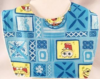 Sponge Bob Baby Bibs, Toddler Bibs, Spongebob, Baby Bibs Handmade, Baby Bibs Boy, Baby Boy Gift, New Baby Gift, New Baby Boy Gift