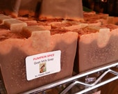 CLEARANCE-PUMPKIN Spice-Happy Goat-goat milk soap-Bath/Shower Bar