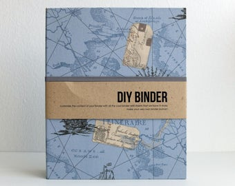 Binder Planner 6x8 (A5 sized) 2-Ring Folder with 2 FREE Refill Packs -  Explorer