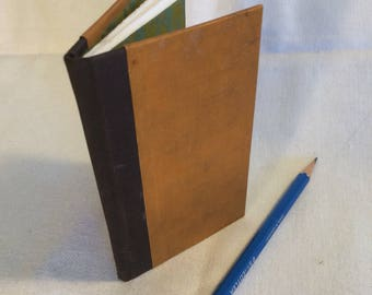 Recycled book - mini notebook, good for on-the-go, and writing passwords